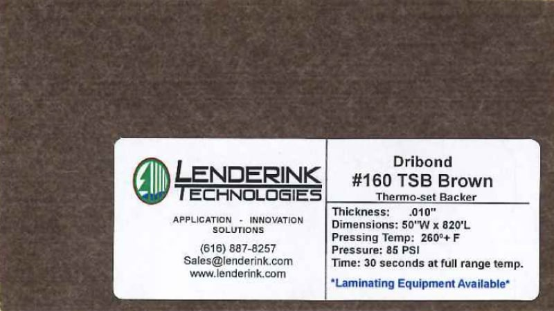 Brown Thermo-Set Backer Lenderink Technologies