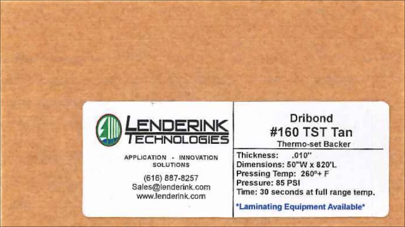 Thermoset Tan Backing Material Lenderink Technologies