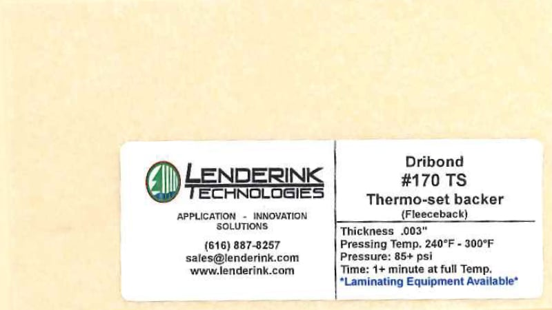 Thermo-set Dribond Backer Lenderink Technologies
