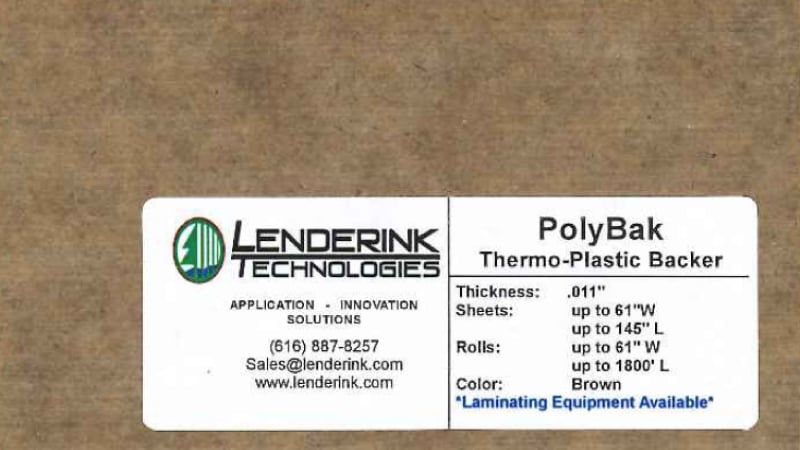 Thermo Plastic PolyBac Backing Lenderink Technologies