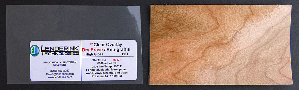 Clear Overlay Dry Erase Anti-Graffiti PET High Gloss