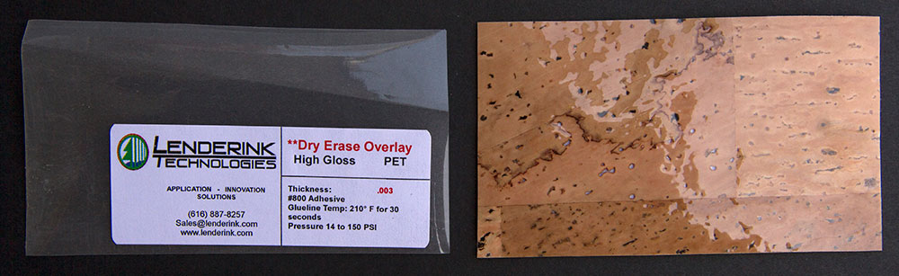 Dry Erase Overlay PET High Gloss