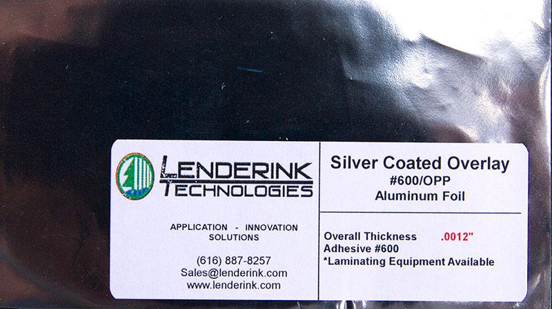 Silver Coated Overlay #600/OPP Aluminum Foil