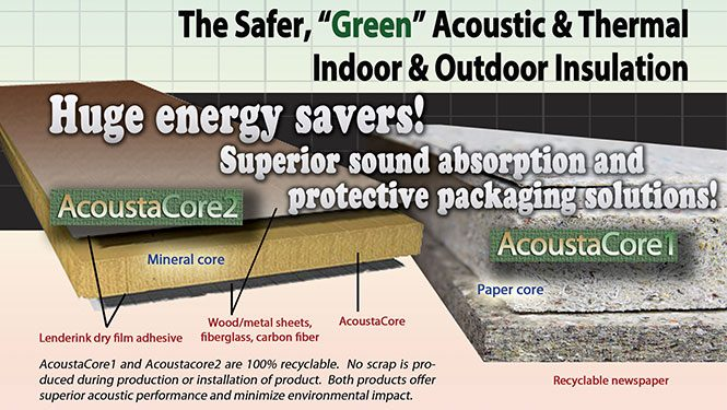 AcoustaCore a Light Weight Acoustic Material Manufactured by Lenderink Technologies