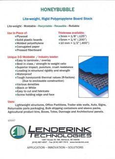 Lenderink Honey Bubble Brochure