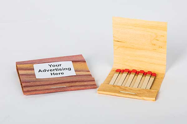 Wood Veneer Matchbooks