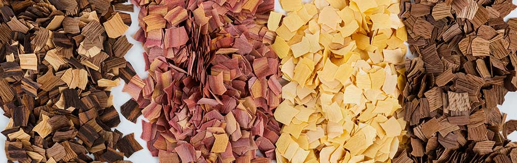 Natural Wood Chips Collage
