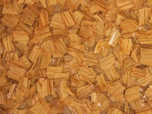 White Oak Natural Wood Chips Decorative Surface