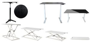 Collage of 3 adjustable table styles