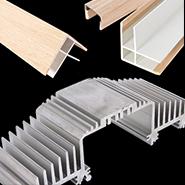 Extrusions: Alum., Wood Wrap, Plastic